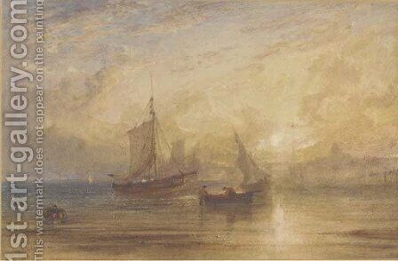 Off Ramsgate at sunset by Anthony Vandyke Copley Fielding - Reproduction Oil Painting