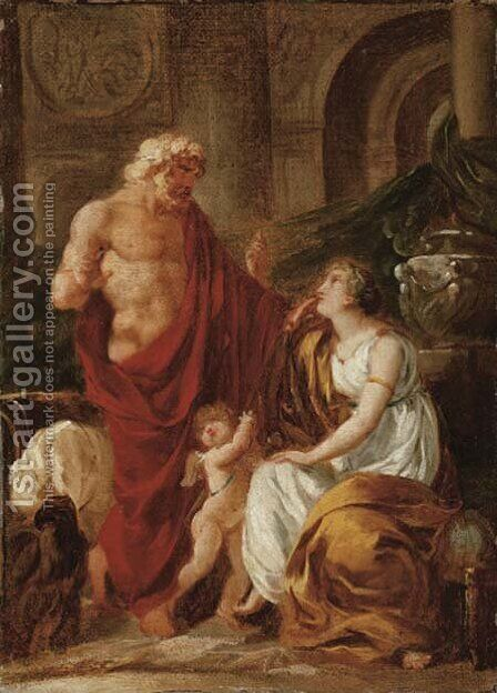 Jupiter and Ceres by Antoine-Francois Callet - Reproduction Oil Painting