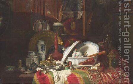 Still Life with Dishes by Antoine-Guillaume Trinquier - Reproduction Oil Painting