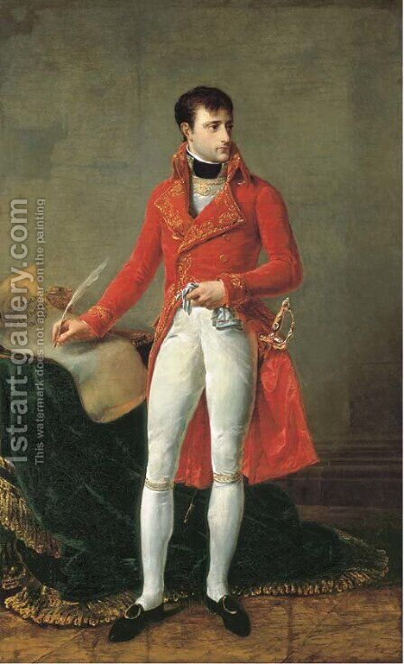 Portait of Napoleon Bonaparte, full-length, as First Consul by Antoine-Jean Gros - Reproduction Oil Painting