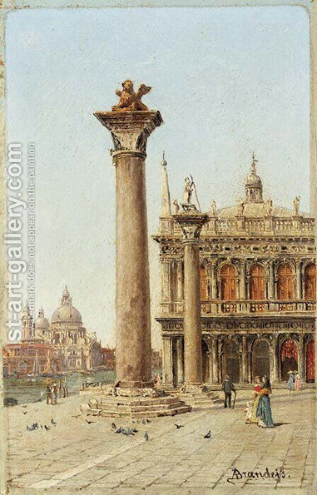Entrance to the Grand Canal from the Piazzetta by Antonietta Brandeis - Reproduction Oil Painting
