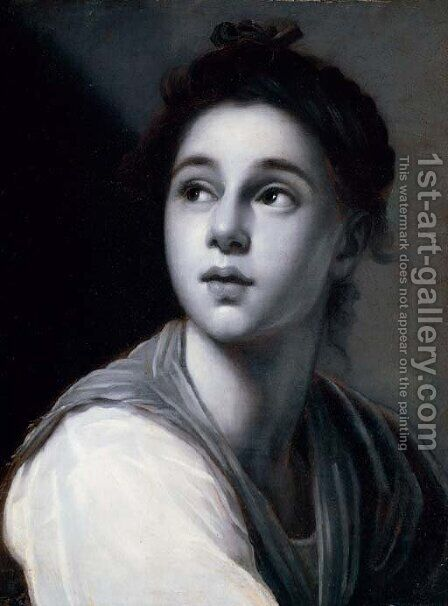 A young woman, en grisaille by Anton Raphael Mengs - Reproduction Oil Painting