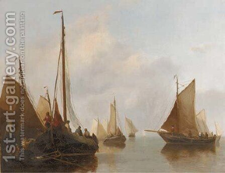 A busy shipping lane by Antonie Waldorp - Reproduction Oil Painting
