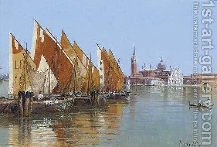 Barche da pesca, Venezia by Antonietta Brandeis - Reproduction Oil Painting
