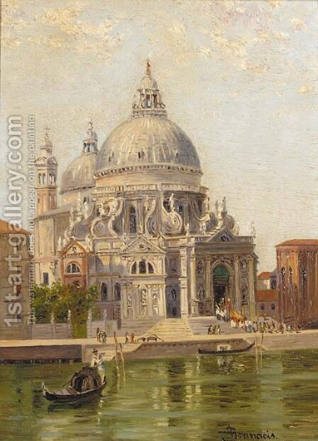 Santa Maria della Salute, Venice by Antonietta Brandeis - Reproduction Oil Painting