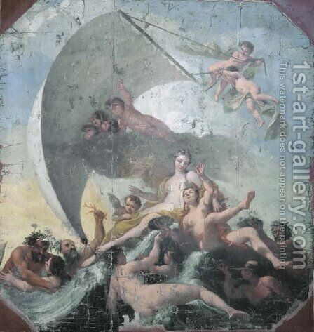 The Triumph of Galatea by Antonio Bellucci - Reproduction Oil Painting