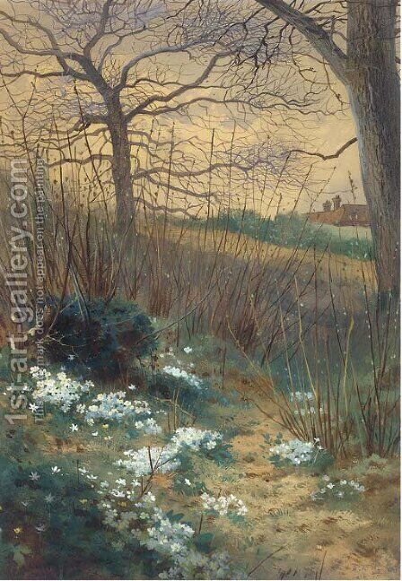 An early spring morning by Archibald Thorburn - Reproduction Oil Painting
