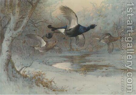 Untitled by Archibald Thorburn - Reproduction Oil Painting