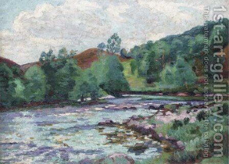 Barrage de Genetin by Armand Guillaumin - Reproduction Oil Painting