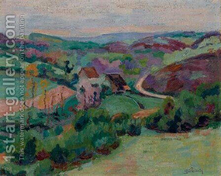 Cete face au Pont Charrault, Creuse by Armand Guillaumin - Reproduction Oil Painting