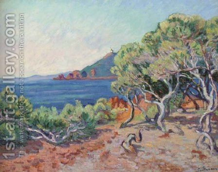 L'entree de la baie d'Agay, le matin by Armand Guillaumin - Reproduction Oil Painting