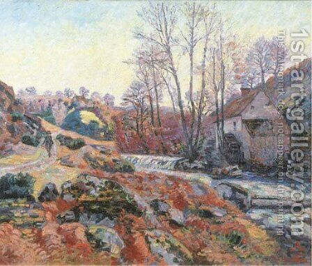 La Moulin Bouchardon a Crozant by Armand Guillaumin - Reproduction Oil Painting
