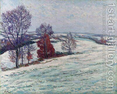 La neige  Crozant by Armand Guillaumin - Reproduction Oil Painting