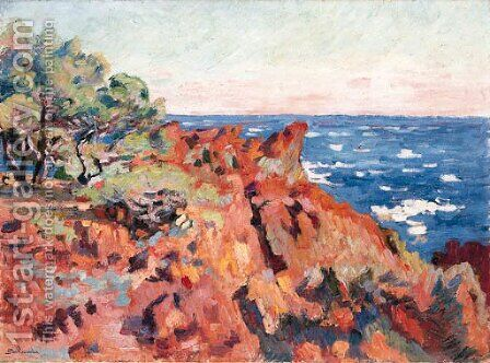 Le Trayas (Var) by Armand Guillaumin - Reproduction Oil Painting