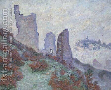 Les Ruines du chateau de Crozant by Armand Guillaumin - Reproduction Oil Painting