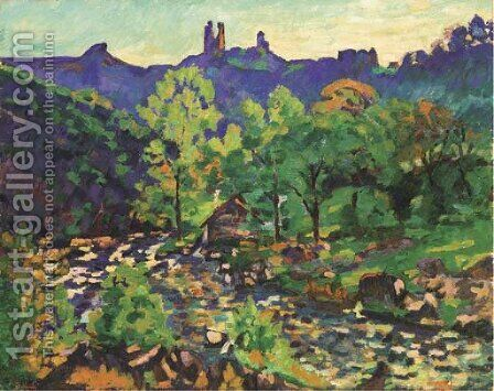 Les ruines du chateau, Crozant by Armand Guillaumin - Reproduction Oil Painting