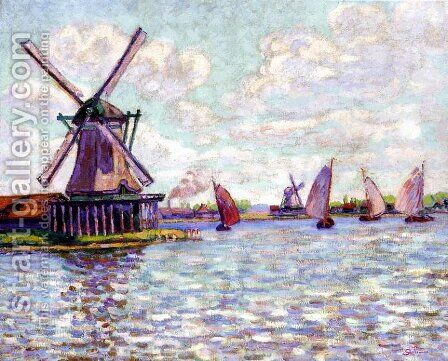 Moulins en Hollande 2 by Armand Guillaumin - Reproduction Oil Painting