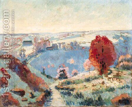Paysage d'automne 2 by Armand Guillaumin - Reproduction Oil Painting