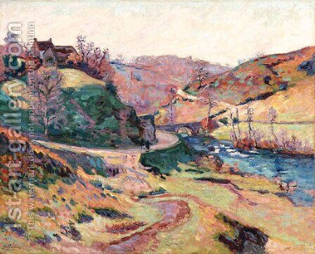 Paysage de La Creuse 2 by Armand Guillaumin - Reproduction Oil Painting