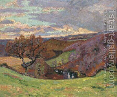 Puy Barriou by Armand Guillaumin - Reproduction Oil Painting
