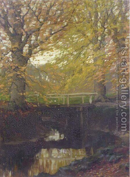 Herfstgoud beech trees in autumn by Arnold Marc Gorter - Reproduction Oil Painting