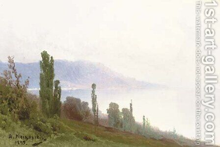A Crimean coastal Landscape by Arsenii Ivanovich Meshcherskii - Reproduction Oil Painting