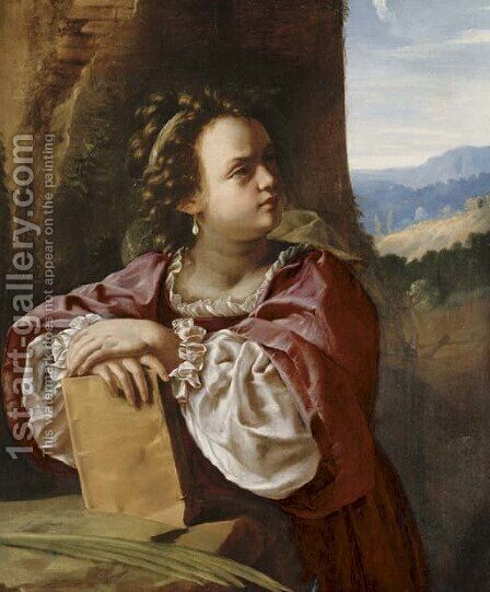 Saint Catherine of Alexandria by Artemisia Gentileschi - Reproduction Oil Painting