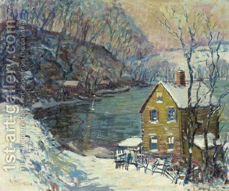 Spuyten Duyvil, New York by Arthur C. Goodwin - Reproduction Oil Painting