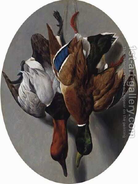 Canvasback and Mallard by Arthur Fitzwilliam Tait - Reproduction Oil Painting