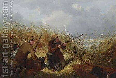 Duck Shooting Over Decoys by Arthur Fitzwilliam Tait - Reproduction Oil Painting