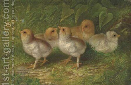 Expecting Chicks by Arthur Fitzwilliam Tait - Reproduction Oil Painting