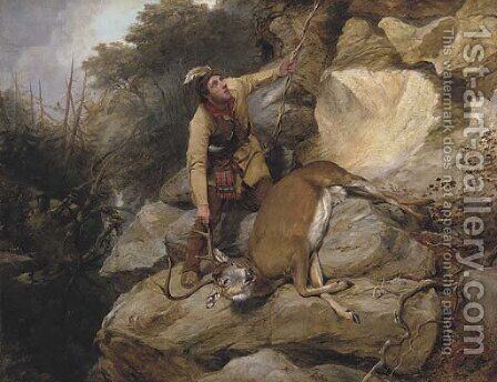 The Hunter's Dilemma I by Arthur Fitzwilliam Tait - Reproduction Oil Painting