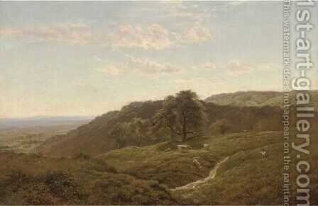 Coldharbour near Limpsfield, Surrey by Arthur Gilbert - Reproduction Oil Painting