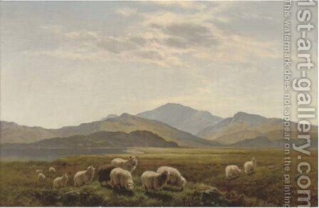 In the valley near Strata, Florida, South Wales 1893 by Arthur Gilbert - Reproduction Oil Painting