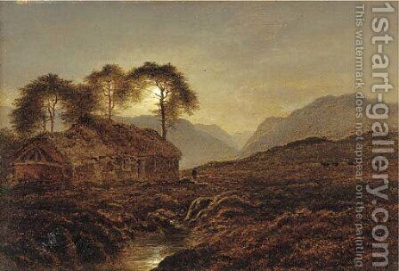 Night, a Highland Home by Arthur Gilbert - Reproduction Oil Painting