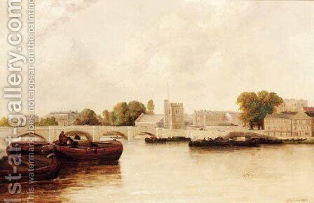 On the Thames at Putney by Gordon Arthur Meadows - Reproduction Oil Painting