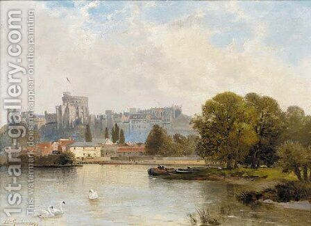 Windsor Castle from the Thames by Arthur Gordon - Reproduction Oil Painting
