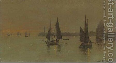 Out with the Ebbing Tide by Arthur E. Grimshaw - Reproduction Oil Painting