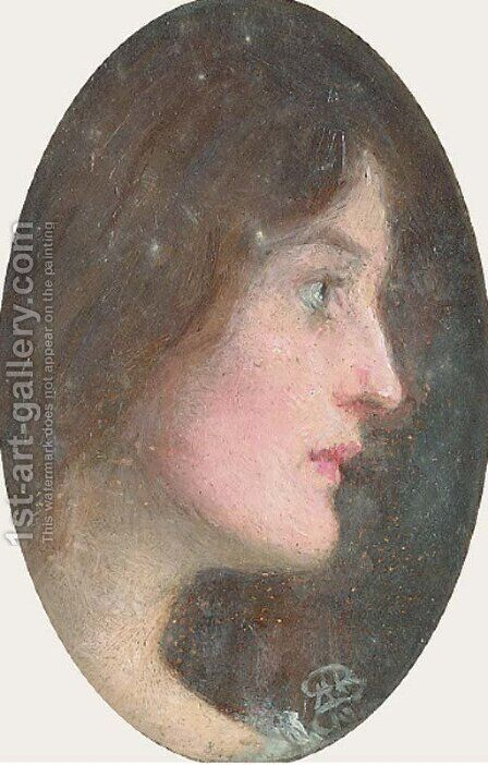 Portrait of Effie Ruskin, profile by Arthur Herbert Buckland - Reproduction Oil Painting