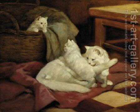 A wash before bed-time by Arthur Heyer - Reproduction Oil Painting
