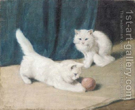 Friends at play by Arthur Heyer - Reproduction Oil Painting