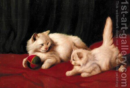 Playtime by Arthur Heyer - Reproduction Oil Painting