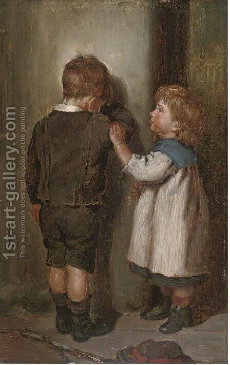 A comforting word by Arthur Hill - Reproduction Oil Painting