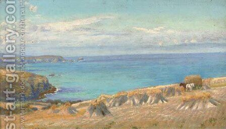 Godrevy Light by Arthur Hughes - Reproduction Oil Painting
