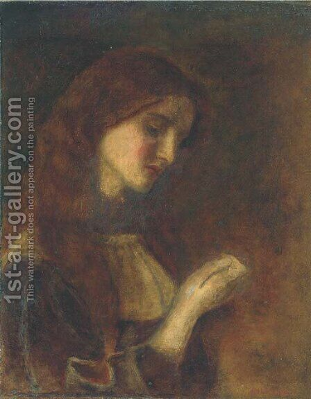 Madeleine by Arthur Hughes - Reproduction Oil Painting