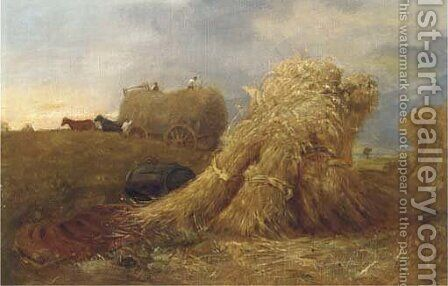 Haymaking by James Stark - Reproduction Oil Painting