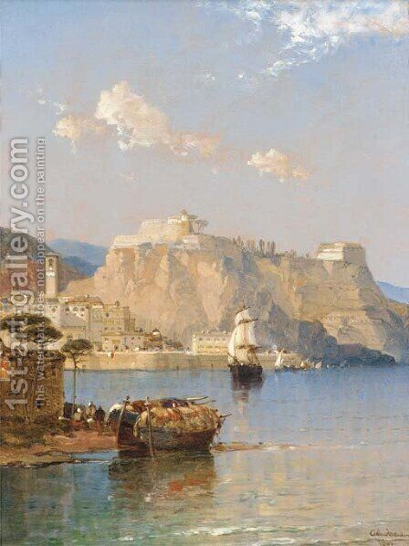 Corfu - in the Adriatic by Arthur Joseph Meadows - Reproduction Oil Painting