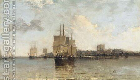 King's Lynn, Norfolk by Arthur Joseph Meadows - Reproduction Oil Painting