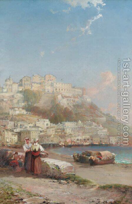 Port Maurizio on the Riviera 2 by Arthur Joseph Meadows - Reproduction Oil Painting