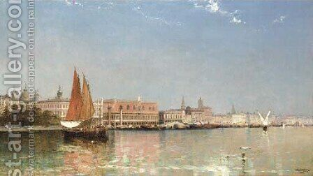 The Ducal Palace, Venice by Arthur Joseph Meadows - Reproduction Oil Painting